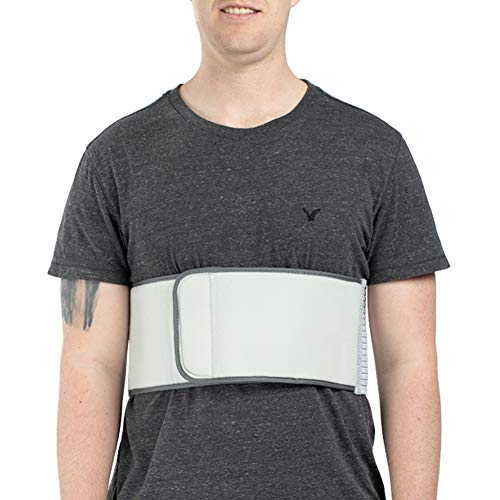 Broken Rib Belt, Elastic Body Rib Protector Support Brace Chest Wrap Belt for Cracked, Fractured or Dislocated Ribs Protection, Compression and Support (Male - Fits 42