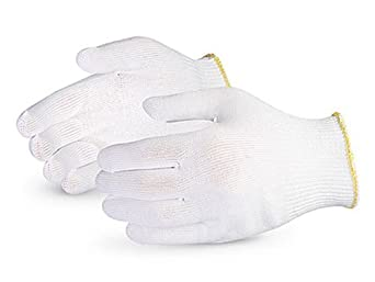 Superior S13PP Polypropylene Winter Glove Liner, Work, 13 Gauge Thickness, Large, White (Pack of 1 Dozen)