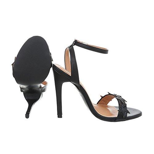High Aiguille Femme Escarpins Heel Noir Chaussures Design pb Sandales B511yh Sandales Ital w076Iq7