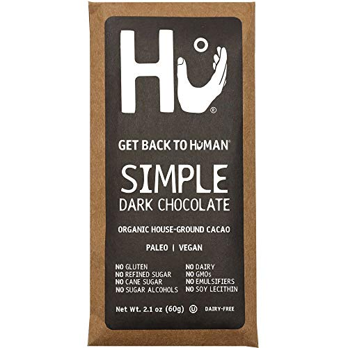 Hu Chocolate Bars | 4 Pack Simple | Natural Organic Vegan, Gluten Free, Paleo, Non GMO, Fair Trade Dark Chocolate | 2.1oz - Equal 80 Exchange