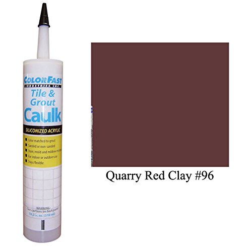 (Color Fast Caulk Matched to Custom Building Products (Quarry Red Clay Sanded))