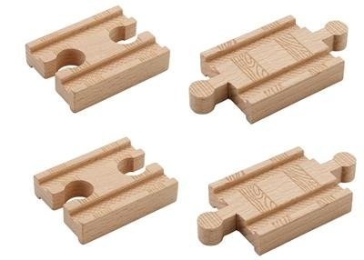 """Authentic Thomas Wooden Railway - 2"""" Straight Adapter Track (2FF & 2MM) Loose - Brand New"""