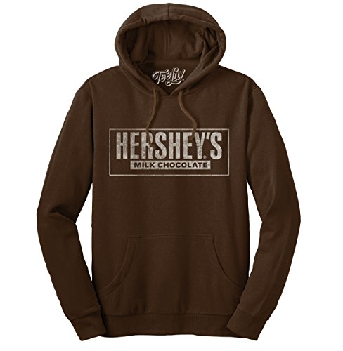 - Tee Luv Hershey's Milk Chocolate Hoodie - Hersheys Hooded Sweatshirt (Medium)
