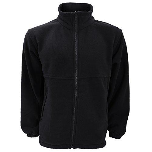 Ultimate Clothing Collection UCC Unisex Full Zip Polar Fleece Jacket (3XL) (Navy Blue)