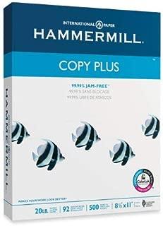 product image for 10 X Hammermill Copy Plus Multipurpose/Fax/Laser/Inkjet Printer Paper, Letter Size (8.5 x 11), 92 Brightness, 20 lb Density, Acid Free, Ream, 500 Total Sheets (105007)