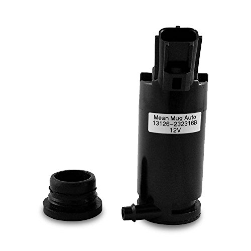Mean Mug Auto 13126-232316B Windshield Washer Pump w/Grommet - For: Ford, Lincoln, Mazda, Mercury - Replaces OEM #: 89017059 ()