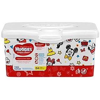 Huggies Simply Clean, Fragrance Free, Tub of 64 Wipes