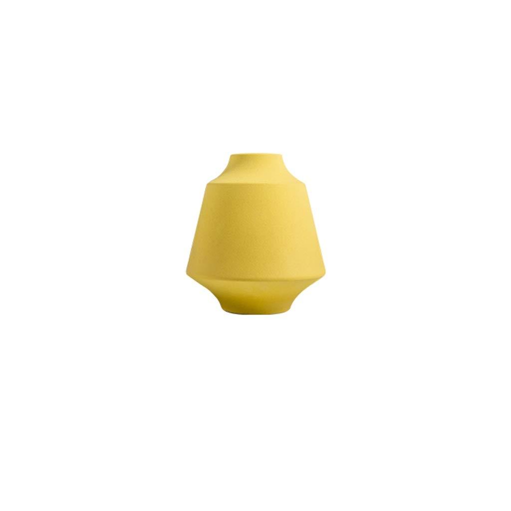 花瓶現代のミニマリストセラミック装飾家のリビングルームのテーブルフラワーアレンジメント北欧装飾テレビキャビネットドライフラワー LQX (Size : S) B07RK72LJS  Small