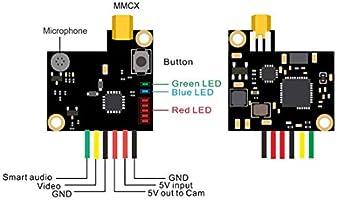 AKK Oscar/'s Backpack VTX  0.01mW//25mW//200mW OSD FPV Transmitter