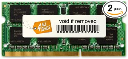 4AllDeals 8GB Kit (2x4GB) Memory RAM Upgrade for Toshiba Satellite C655-S5061 (DDR3-1066MHz 204-pin SODIMM)