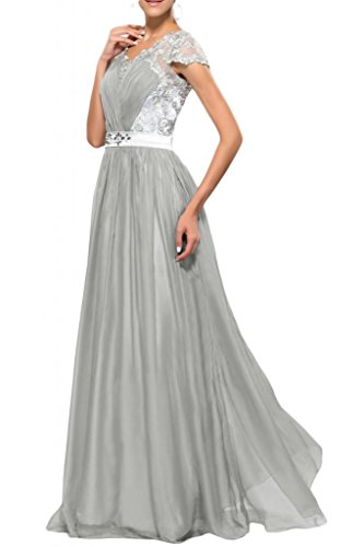 Madre sposa abiti da ballo partito del merletto applique Toscana elegante sposa vestiti da sera di Chiffon lungo tulle