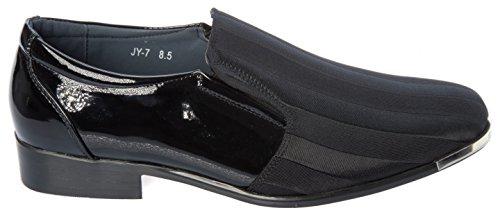 Parrazo Slip-on-mocasines-zapatos De Satén Para Hombre Moda Informal Superior O Formal Vestido De Negocios Negro