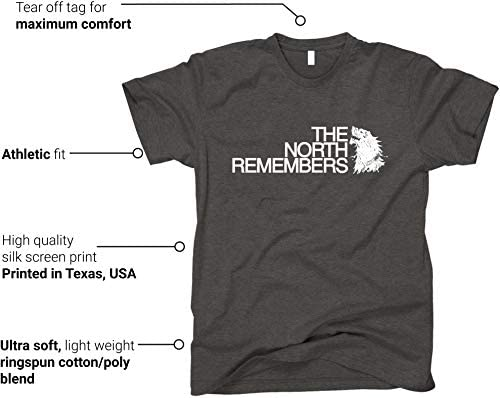 GunShowTees Men's The North Remembers GoT Shirt 6