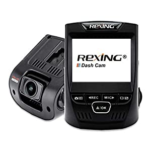 Rexing V1 Wi-Fi Car Dash Cam 2.4″ LCD FHD 1080p 170° Wide Angle Dashboard Camera Recorder with G-Sensor, WDR, Loop Recording, Supercapacitor, Mobile App