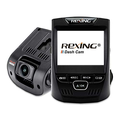 Rexing V1 Car Dash Cam 2.4″ LCD FHD 1080p 170° Wide Angle Dashboard Camera Recorder with G-Sensor, WDR, Loop Recording