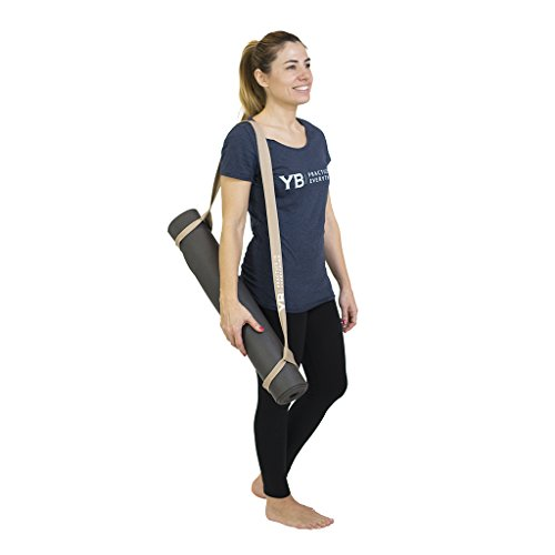 YOGABODY Naturals Super Yoga Strap & Mat Carrier, 2-in-1 100% Natural & Durable Cotton, Use To Carry Your Mat & To Practice Yoga
