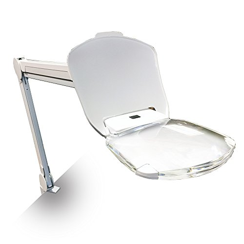 Quantum Precision Ultra-Bright 6 Watt LED Frameless Magnifier Lamp, 3 Diopter 6x5