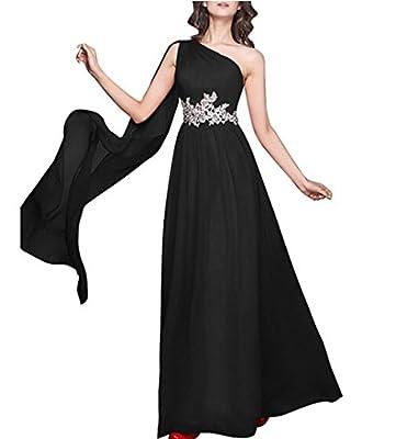 QINGYUAN Bridesmaid Dress Appliques Chiffon Long Evening Prom Homecoming Dress
