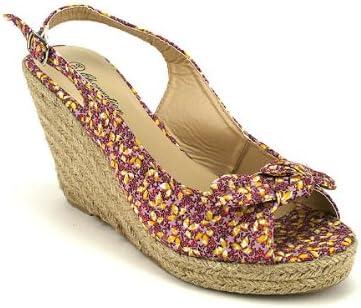 Espadrille Manon Chaussures Femme Fleur Multicolore Liberty CendriyonCompensée à OknwP0