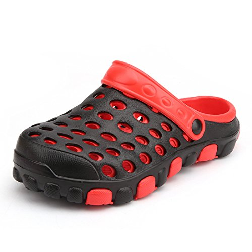 Minotta Mules Red Women Black Homme rqxrw081