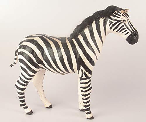 - Leather Zebra - White & Black - Handmade & Hand-Painted (1, 6 inches)