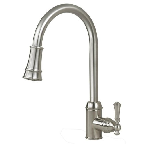 Artisan AF-410-SN Premium Collection Single Handle Kitchen Faucet with Pull Out Spray, Satin (Spray Satin Nickel Kitchen)