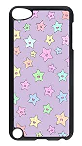 Brian114 Case, iPod Touch 5 Case, iPod Touch 5th Case Cover, Colorful Lovely Stars Retro Protective Hard PC Back Case for iPod Touch 5 ( Black )