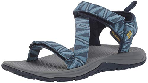 Columbia Men's Wave Train Sandal,whale, antique moss,10 Regular US