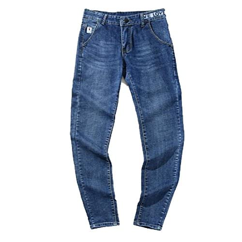 Coolred-Men Casual Flexible Fit Vogue All-Match Long Pants Ankle Jeans for sale