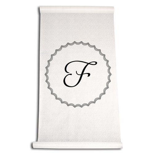 Ivy Lane Design Wedding Accessories Aisle Runner with Initial, Letter F, Black by Ivy Lane Design
