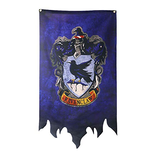 Harry Potter Wall Banner, Gryffindor | Hufflepuff | Ravenclaw | Slytherin House Decor Flag -