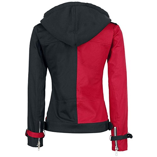 Fashion Harley Suicide Jacket Hoodie and First Costume Women's Black Removable Quinn Cotton Red Squad ptrpxwRBq