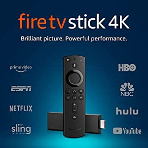 Fire TV Stick 4K with Alexa Voice Remote Controller and Streaming Media Player