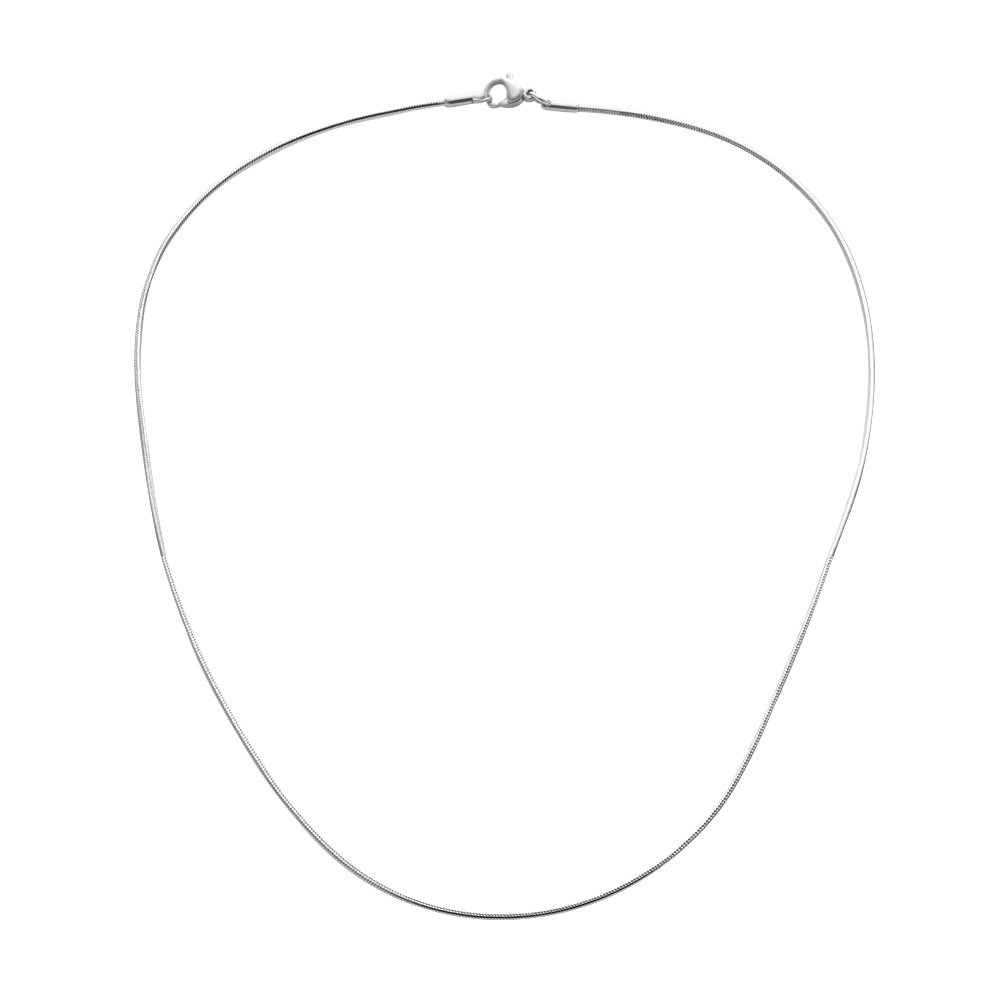 SENFAI 1.2mm Circle the Snake Stainless Steel Chain Necklace 16-30 Long Chain
