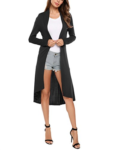 Manche Coat Meaneor Oversized Casual over Longue Cardigan Tricotage Pull Femme qqxO6X