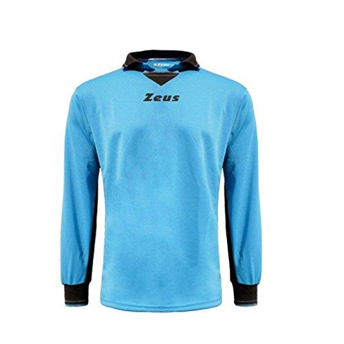 Zeus Herren Kinder Torwart Trikot Mit Gepolstert Shirt Training Ausbildung Fußball Hallenfußball GK MAGLIA MONOS ROYAL GRAU (XXL)