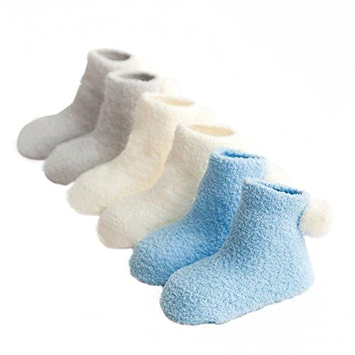3 Pack Socks, Brightup Baby Boy Girl Christmas Socks,Fleece Toddler Thick...