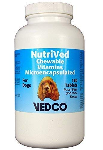 Vedco NutriVed Chewable Vitamins for Dogs 180 Tablets (Dogs Tablets 180)