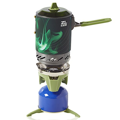 Portable Camp Stove Burner by Ze&Li, Ultralight Backpacking Canister for Hiking, Camping and Outdoor Adventures, All-In-One - 4 Rei 1 Zip