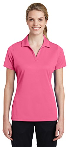 (Sport-Tek LST640 Polo, Bright Pink, Large)
