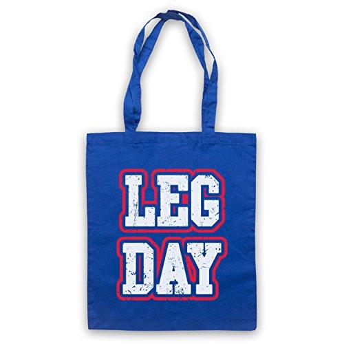 Leg Day Bodybuilding Workout Slogan Bolso Azur Real