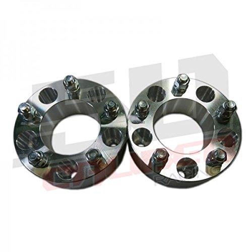 Set of 4 Wheel Spacers 5 x 5 (5 x 127mm) - 2.0 inch thick - Wrangler, Rubicon, Commander, Cherokee, Chevy and GMC 1/2 Ton 2wd Trucks, Astro and G20 Vans [5284-A3] by 50 Caliber Racing (Image #1)