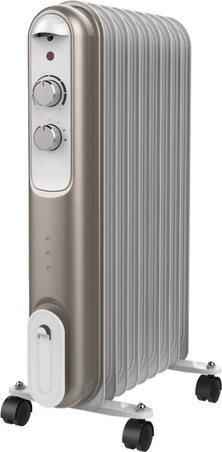 Ardes AR4R09S Interior Negro, Gris, Blanco 2000W Calentador eléctrico de aceite - Calefactor (