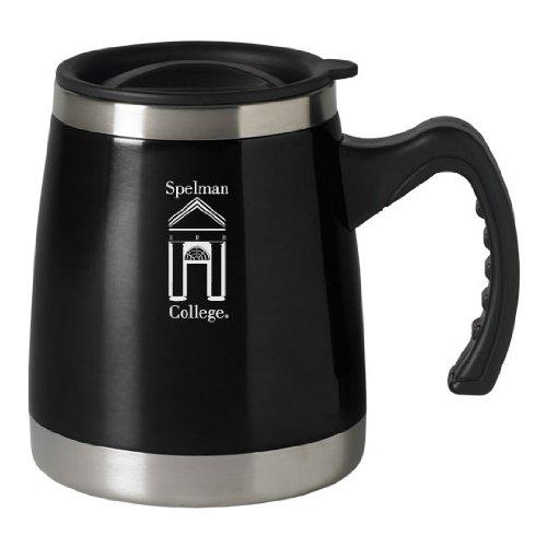 Spelman College - 16-ounce Squat Travel Mug Tumbler - Black