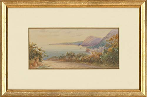 M.S - Framed Early 20th Century Watercolour, Rural Coastline at Dusk