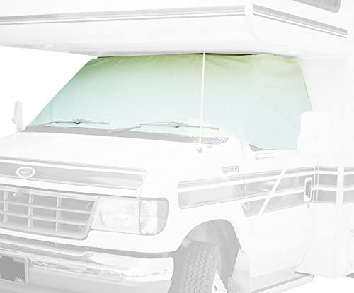 ADCO 2409 White Class C Chevy 2001-2015 Windshield Cover (RV Motorhome with Mirror Cutouts)