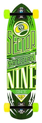 Sector 9 Carbon Flight Complete Skateboard, Yellow (9 Sector Decks Skateboard)