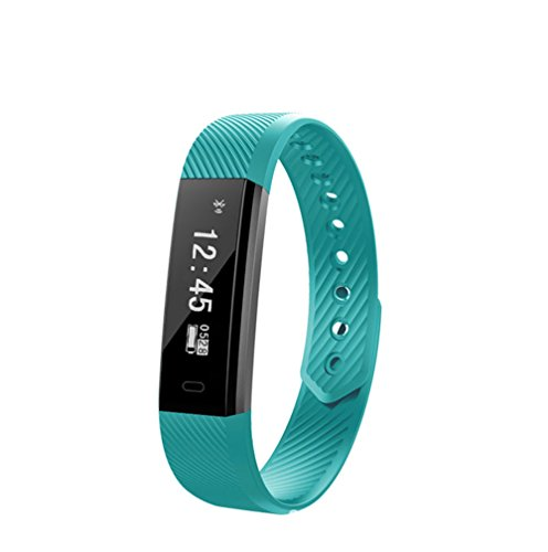 HAMOII Cool Unisex Smart Bracelet Sports Pedometer with Sleep Detection and Information Alerts Function (Azury) by HAMOII