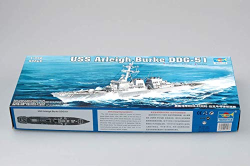 Trumpeter 1/350 Scale USS Arleigh Burke DDG51 Guided Missile Destroyer