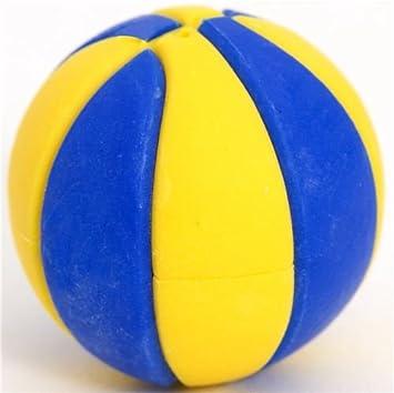 Goma balón de baloncesto azul y amarillo muy chulo por Iwako ...